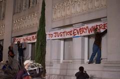 Injustice Banner (MikeMcGeePhoto) Tags: oakland peace rally protest demonstration oaklandpolice frankogawaplaza opd ows occupywallstreet occupyoakland occupyoaklandopd
