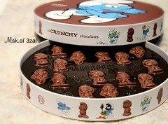 -THE SMURFS Chocolate (Ms l zlQtr) Tags: canon chocolate smurfs llll the kly  d900 dl3   klydl3  mskel3zal