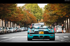 Koenigsegg CCXR [EXPLORE] (Valkarth) Tags: uk blue summer baby paris france car canon eos one julien europe dubai dof ultimate bokeh mark turquoise uae dream royal sigma voiture special arab ii coche saudi arabia mk2 5d orient edition julius juillet 70200 emirate f28 supercar v8 mk suede reve hollyday ccr koenigsegg ete qatar mkii markii ksa 70200mm valk biturbo mark2 qtr ccx moyen jully 2011 althani biofuel arabie qatari hoche hypercar bioethanol ccxr saoudien valkarth 1018hp fautrat xothum