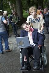 Stephen Hawking Zombie (lukemarkof) Tags: blood raw zombie melbourne shuffle guts