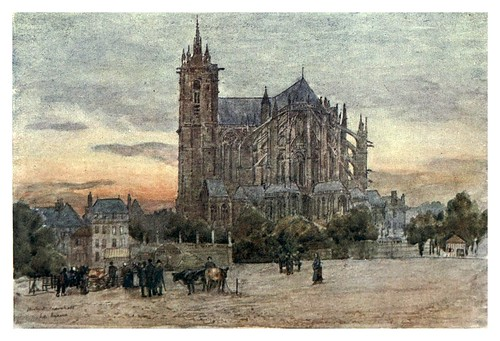 025-Catedral de Le Mans-Cathedral cities of France 1908- Herbert Menzies Marshall