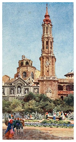 005-La Seo en Zaragoza-Cathedral cities of Spain 1909- William Wiehe Collins
