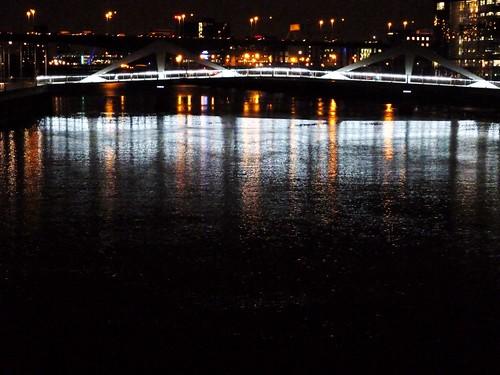 Squiggly Bridge, At Night