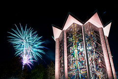 Fireworks and the Chapel of the Resurrection