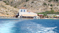 Mira Mare Beach&Cafe (Alexanyan) Tags: blue sea summer beach water swim island greek restaurant islands boat aegean hellas wave resort greece grecia hydra grece saronic ellas hellenic paralia    griechland