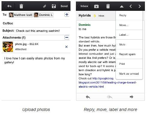 Gmail App for iPhone, iPad and iPod Touch