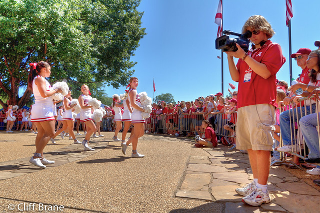 Capturing the Action - The Million Dollar Band Performs at The Pep Rally - Arkansas Game 2011