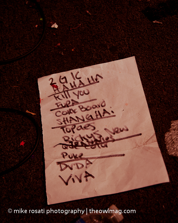 set list - Dwarves @ Gilman 10-30-11