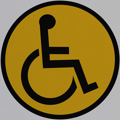 Wheelchair access (Leo Reynolds) Tags: sign canon eos iso400 wheelchair 7d squaredcircle f80 0003sec signrestroom signinformation hpexif 225mm sqset070 xleol30x xxx2011xxx