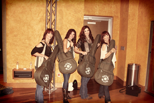MJ2 with their Daisy Rock guitars at Studio at the Palms