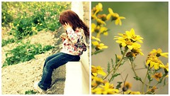 Little Daisy (lizbeth ) Tags: two girl childhood yellow daisies diptych child duo nia amarillo giallo dos wildflowers infancia niez prettygirl ragazza bambina lvm dptico dittico twoisbetterthanone lavueltaalmundo deiji letouraumonde