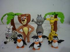 Madagascar em Biscuit (Biscuitar) Tags: biscuit zebra madagascar girafa pinguns