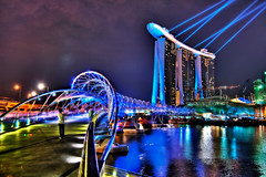 The Helix, Singapore (Sprengben [why not get a friend]) Tags: world china city bridge wedding summer sky music newyork paris art water japan skyline clouds skyscraper observation hongkong lights tokyo bay harbor amazing rainbow nikon singapore asia warm ship shanghai sundown artistic time gorgeous awesome watch hamburg elevator style casino symmetry divine international shoppingmall stunning metropolis helix charming foreign fabulous hdr linear englandlondon marinabay lotusflower engaging travelphotography d90 photomatix singaporeflyer travellight d3s sprengbenurban boatsands formulabay