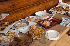Desserts table @ Club Club Community Cookbook Launch & Epic Potluck