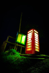 Rural glow and ambient light. (LED Eddie) Tags: longexposure red k rural dorset telephonebox redphonebox churchknowle noctography tokina1116 lightpaintingartist