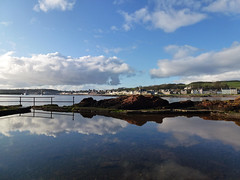 Boating Pond Reflection (g crawford) Tags: blue sky reflection water weather clouds reflections river scotland riverclyde clyde skies scottish reflected coastal shore crawford millport scots firth ayrshire largs clydecoast cumbrae firthofclyde coud