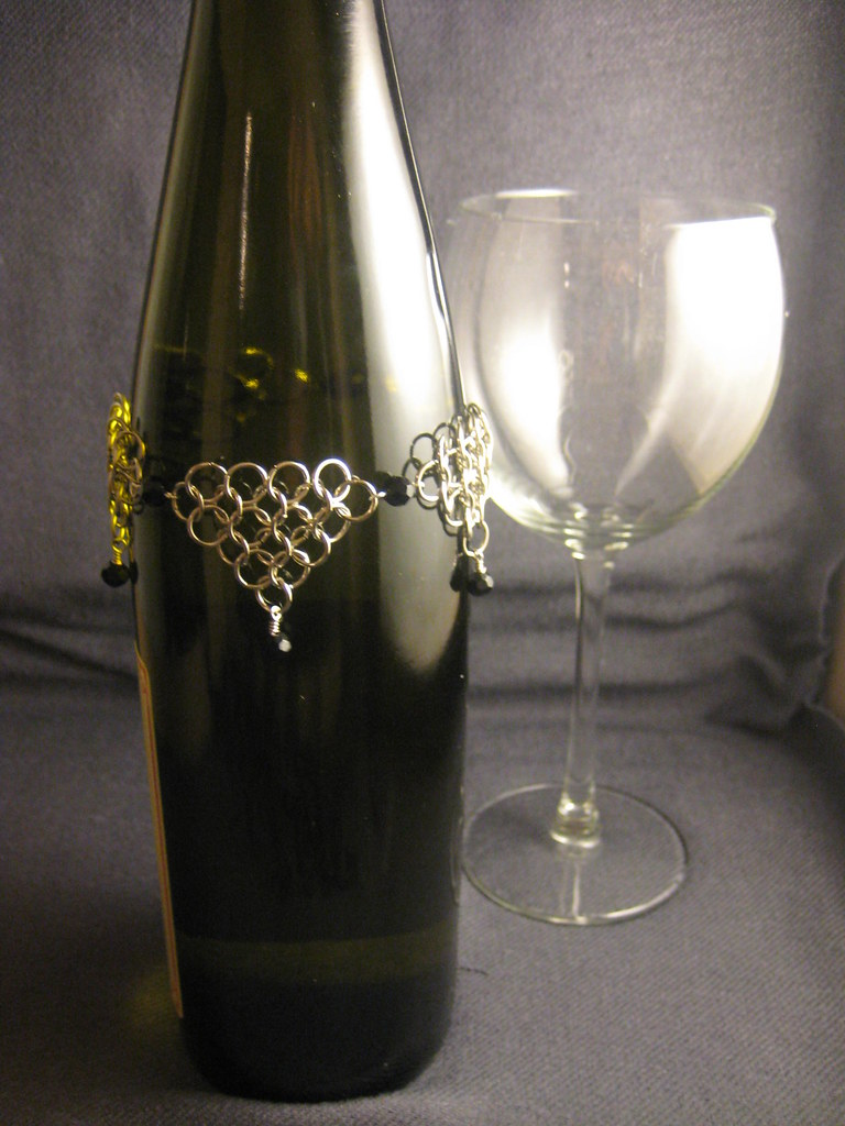 Bottle Jewelry with Glass Crystals