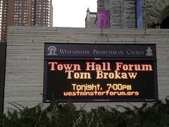 Tom Brokaw notice
