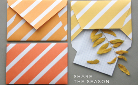 DIY Fall Envelopes
