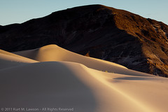 Soft sands in the Ibex Dunes (Kurt Lawson) Tags: ca sky rock nationalpark rainbow sand mine unitedstates desert dunes ngc brush hills deathvalley ibex deathvalleynationalpark saddlepeak ibexdunes newberrybaker
