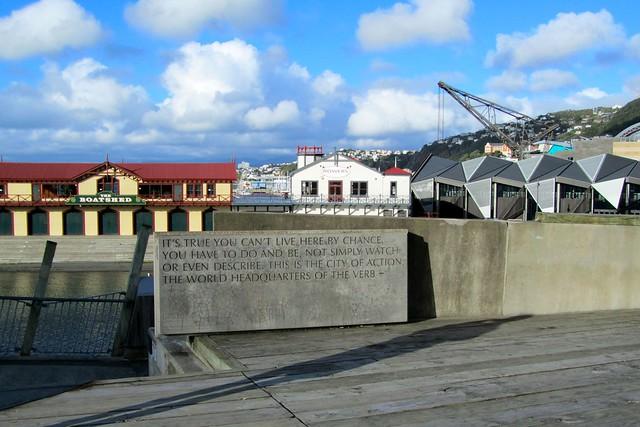 Wellington Writer's Walk, New Zealand
