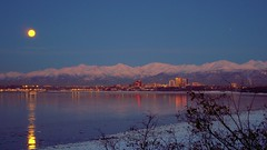 Alaska Anchorage With Moon (MarculescuEugenIancuD5200Alaska) Tags: snow alaska night anchorage saariysqualitypictures outstandingromanianphotographers phototalkgroup theinspirationgroup
