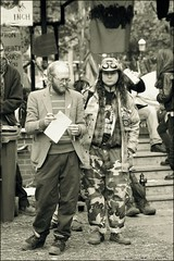 occupy toronto ..... (ana_lee_smith) Tags: portrait bw toronto sepia vintage lens photography site rally protest photojournalism documentary social gazebo demonstration beercan solidarity portraiture stjamespark tuesday kingstreet day17 assembly ows the99 sacredfire analeesmith globalmovement minoltaaf70210mm occupiedland sonyslta33 occupytoronto occupyingtoronto nov12011 thefaceofoccupytoronto