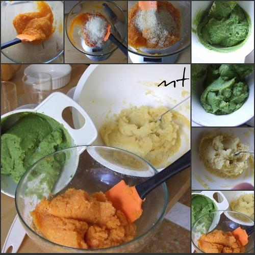 le tre verdure colorate