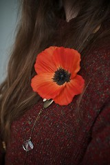 Remember (Lizzie Staley) Tags: autumn flower floral hair necklace remember jewellery poppy remembrance 111111