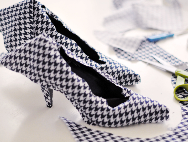 Houndstooth Shoes DIY - 20