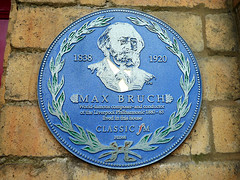 Photo of Max Bruch blue plaque