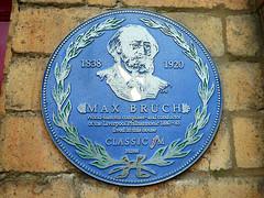 Max Bruch Plaque