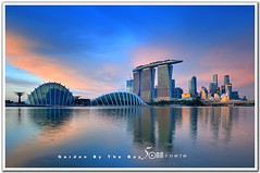 Singapore (fiftymm99) Tags: ocean road park bridge sea reflection building water museum modern skyscraper marina river garden lights hotel bay nikon highway singapore ceremony casino opening rooftopgarden keppel d300 helixbridge artscience gardensbythebay marinabaysands attarction fiftymm99 gettyimagessingaporeq2 singaporeseaport