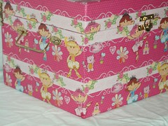 Ba baby Angel (My Angels presentes) Tags: caixa bebe decorao maleta maternidade ba quartodebebe frasqueira portaalgodo acessriosparabebe portacotonete