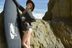 Bikini Swimsuit Model Goddess Shot With Nikon D800 (45SURF Hero's Odyssey Mythology Landscapes & Godde) Tags: black slr beach digital lens ed photography nikon with photoshoot image zoom photos d models images malibu ii cameras surfboard nikkor 800 vr swimsuits afs bikinis d800 70200mm f28g