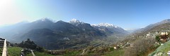 View from Saint-Denis (Cristian Marchi) Tags: panorama snow mountains alps castle view pano valle mount valley vista alpi castello valledaosta saintdenis cylindrical hugin cly emilius