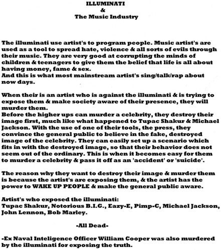 The Illumnati & The Music Industry Exposed