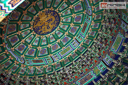 The ceiling in the Imperial Vault of Heaven - Temple of heaven