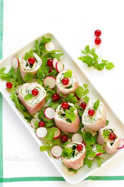 Involtini de jambon, gorgonzola et herbes