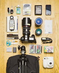 What's in my bag... (Ziyan | Photography) Tags: california santa usa bag barbara 5d whatsinyourbag instax 7s whibal ziyan