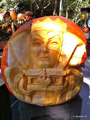 Carved Pumpkin Evil Queen