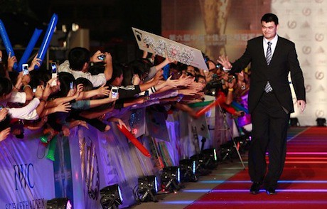 October 11th, 2011 - Yao Ming is greeted by fans at the China Top 10 Laureus Awards