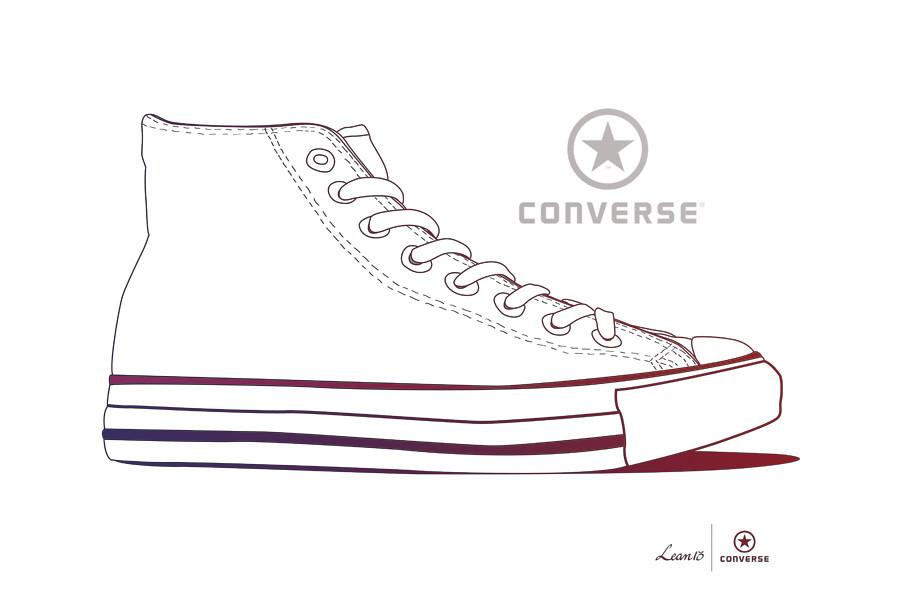 Fashion Illustration Converse Shoes
