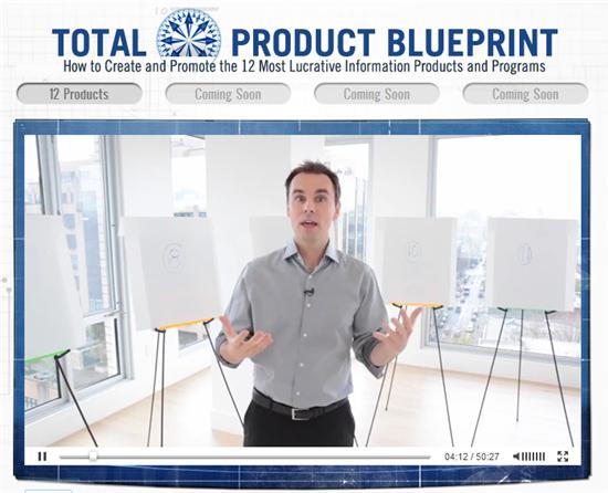 ブレンドン・バーチャード(Brendon Burchard)、『Total Product Blueprint』(トータル・プロダクト・ブループリント)の「無料動画講座シリーズ」の1本目の動画