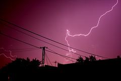 IMG_6329 (McGheeJoe) Tags: house storm tree silhouette night interesting wire telephone line lightening washing
