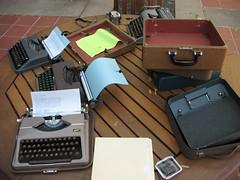 Noisemakers (mpclemens) Tags: baby typewriter olympia norcal hermes smithcorona gossen pleinair skyriter tippa sm3 typein clickhing