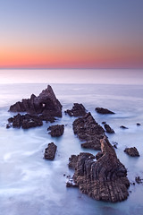 Cloudless sunset on Zambujeira do Mar (Jose Viegas) Tags: costa portugal canon 50mm mar do ray mark f14 sigma daryl ii 5d benson alentejo singh zambujeira vicentina