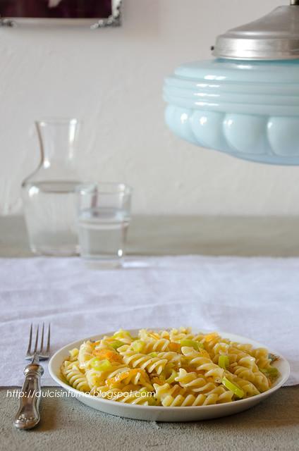 Fusilli con Zucca e Porri-Leek and Pumpkin Pasta