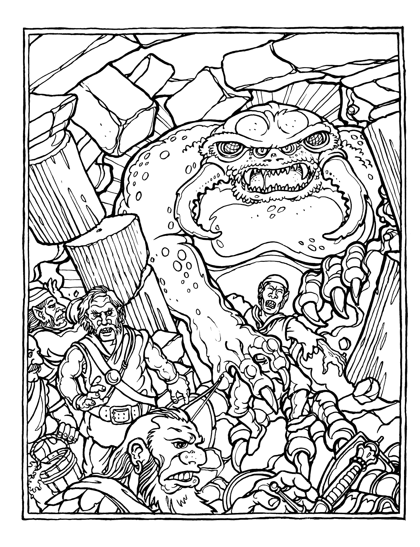 dungeons and dragons coloring pages - photo #4