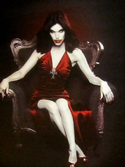 Female Vampire (shaire productions) Tags: red portrait woman halloween monster female night photography photo twilight dress image vampire character inspired evil artsy photograph creature reproduction rendering imagery supernatural villian entity trueblood
